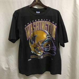 Vintage 1992 Washington Huskies Football T-Shirt